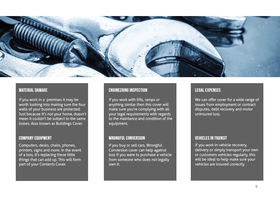 Motor Trade Insurance Guide