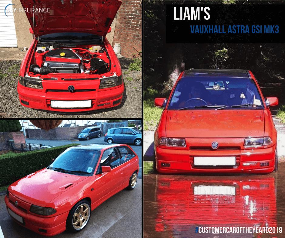 Liam's Vauxhall Astra GSI MK3